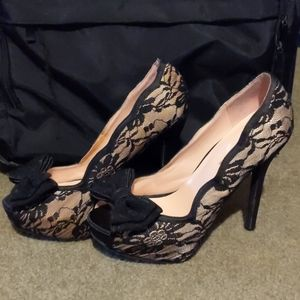 Lack platform heels